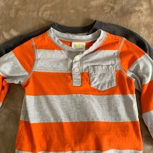 Two shirts for toddler boys 18 months.